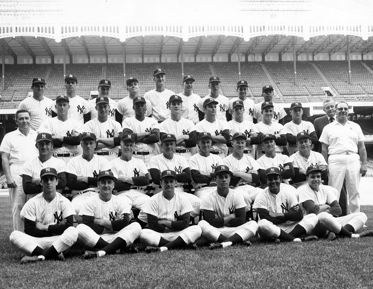 Bill Robinson played on the New York Yankees from 1967-1969. In this 1968 Yankees team photo, he is pictured in the third row, third from the left. (National Baseball Hall of Fame and Museum)