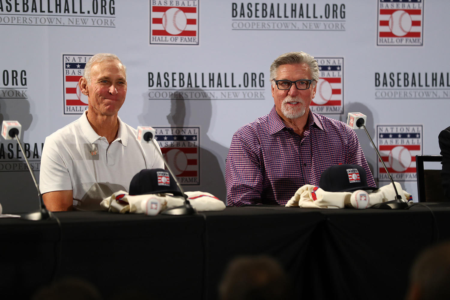 Alan Trammell and Jack Morris address the media during the Modern Baseball Era electee press conference. (Alex Trautwig/MLB Photos)