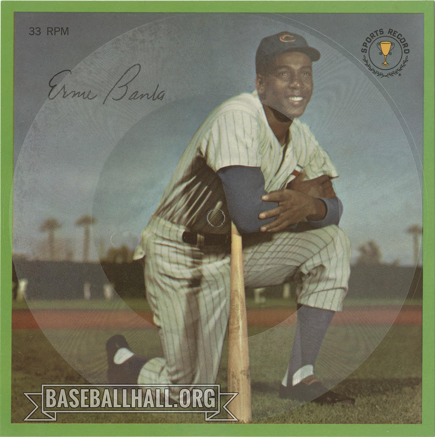 On Ernie Banks' 1964 Auravision record, he gave tips to young players on how to approach hitting. (National Baseball Hall of Fame and Museum)