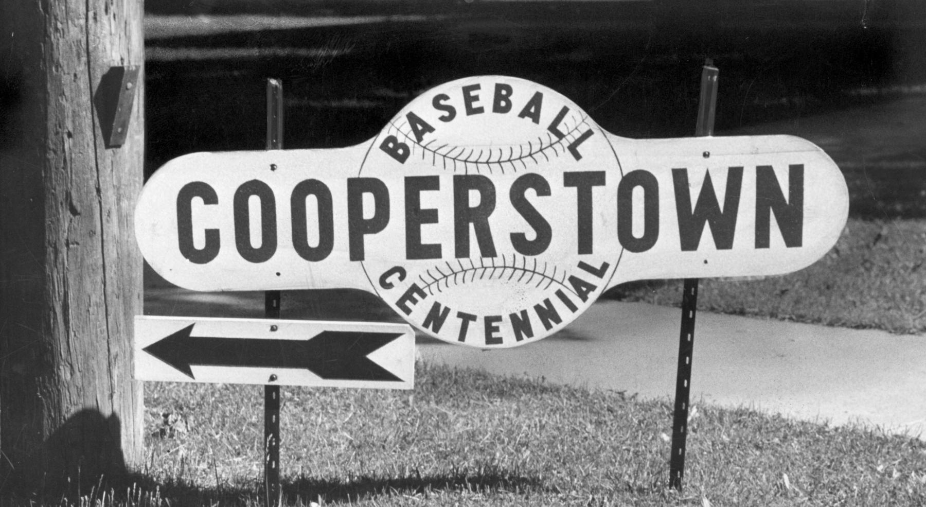 The center of the baseball world was Cooperstown, N.Y., on June 12, 1939, as the inaugural Hall of Fame induction ceremony was held. No games were held that day throughout Major League Baseball except for the exhibition contest held at Doubleday Field. (National Baseball Hall of Fame and Museum)