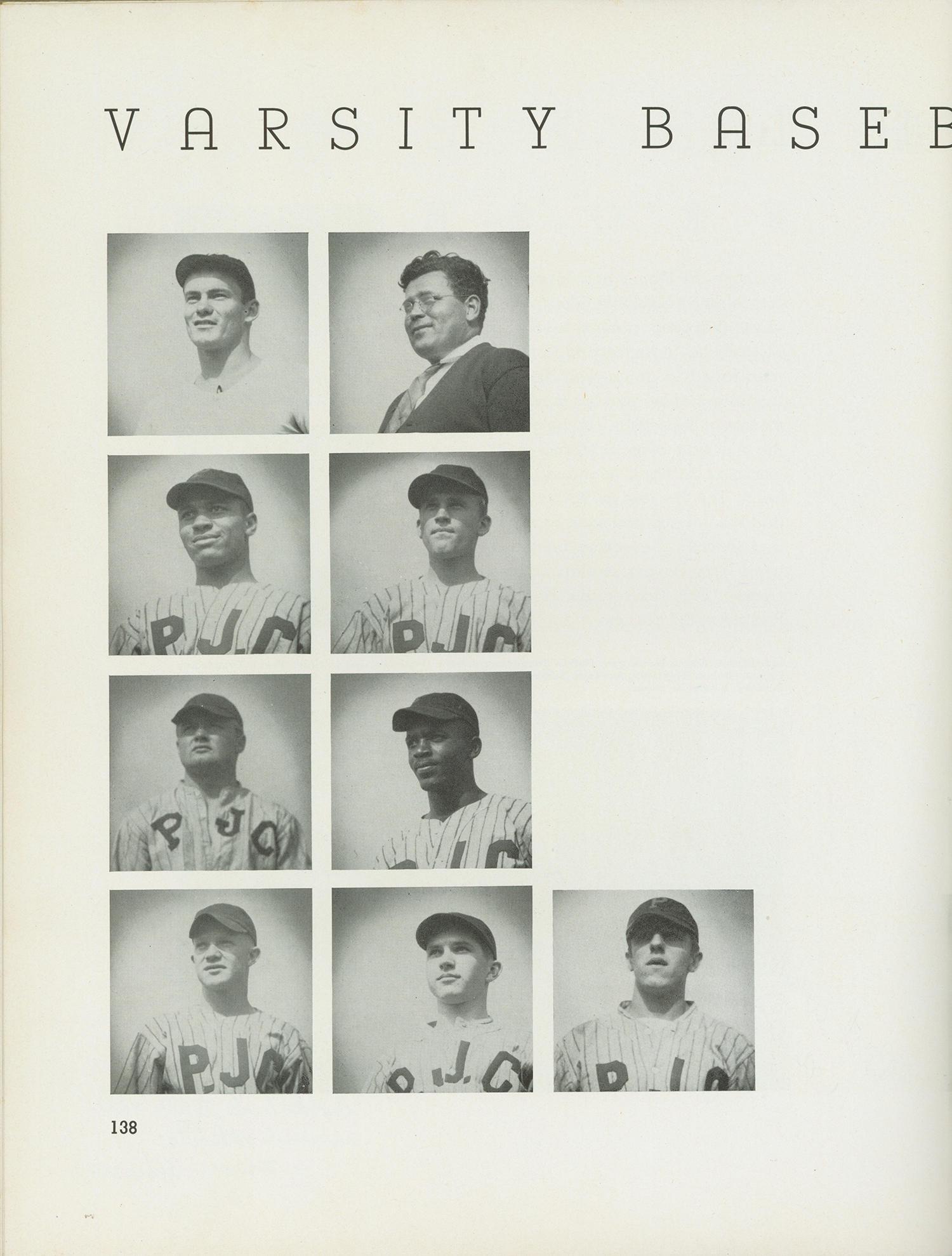 Jackie Robinson played shortstop for Pasadena Junior College from 1937-1938, 10 years before he broke the color barrier in Major League Baseball. He's pictured above in the middle vertical row, second from the bottom. (National Baseball Hall of Fame and Museum)