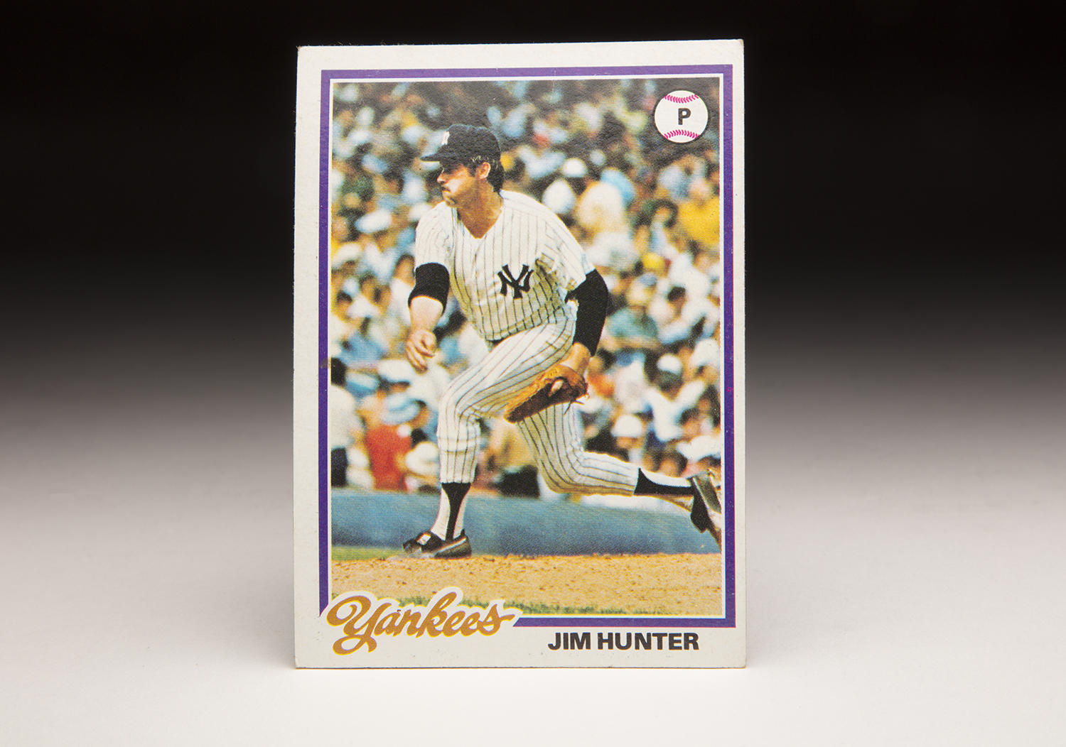 When Catfish Hunter's 1978 Topps card came out, he was in his fourth season with the New York Yankees. (Milo Stewart Jr./National Baseball Hall of Fame and Museum)