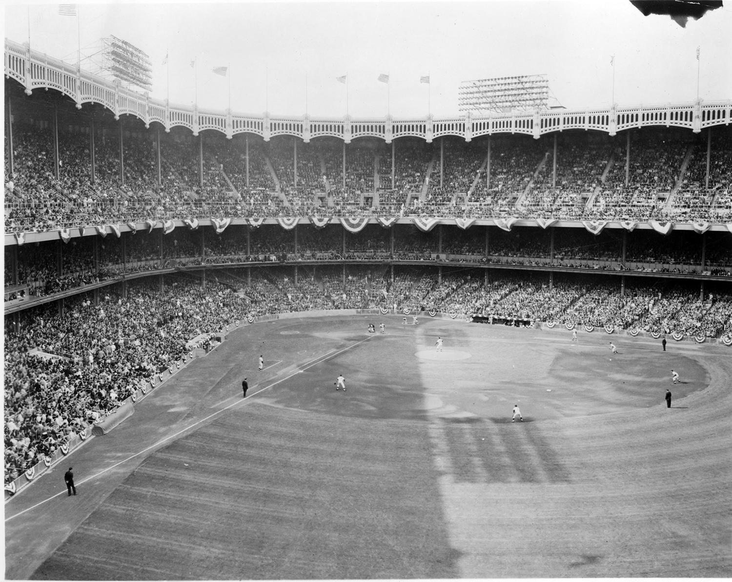 Constructed in 1923, Yankee Stadium would host the Yankees through the 2008 season before the team moved into a new building across the street in the Bronx. (National Baseball Hall of Fame and Museum)