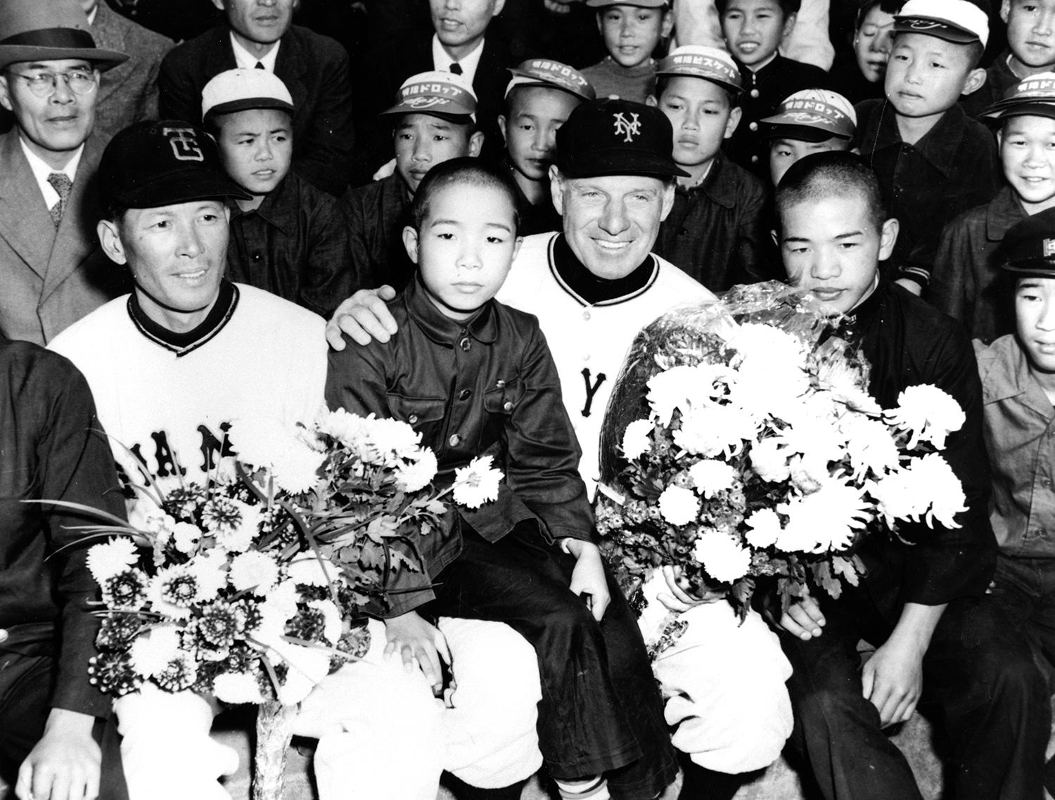"""New York Giants manager Leo Durocher said the Japanese """"play fine baseball"""" after returning from the 1953 tour of Japan. <a href=""""http://collection.baseballhall.org/islandora/object/islandora%3A273613"""">PASTIME</a> (National Baseball Hall of Fame)"""