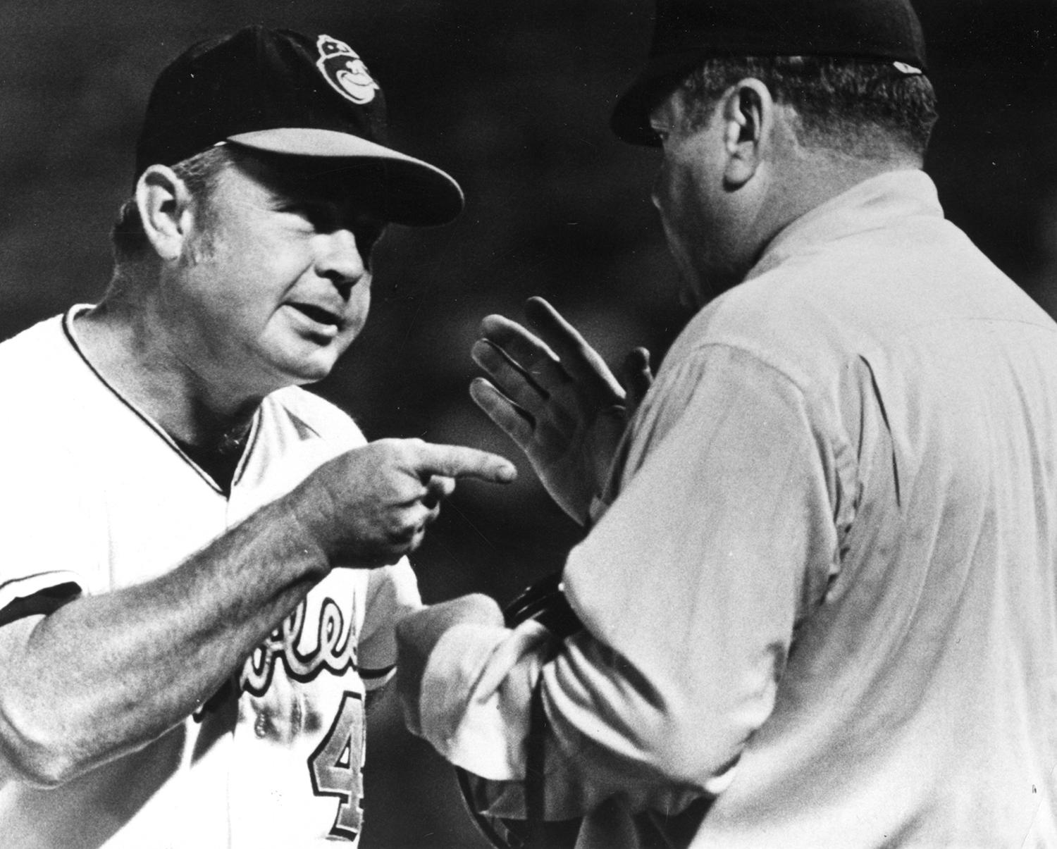 Earl Weaver led Baltimore to 48 wins of its 82 games in his first season as manager. (National Baseball Hall of Fame and Museum)