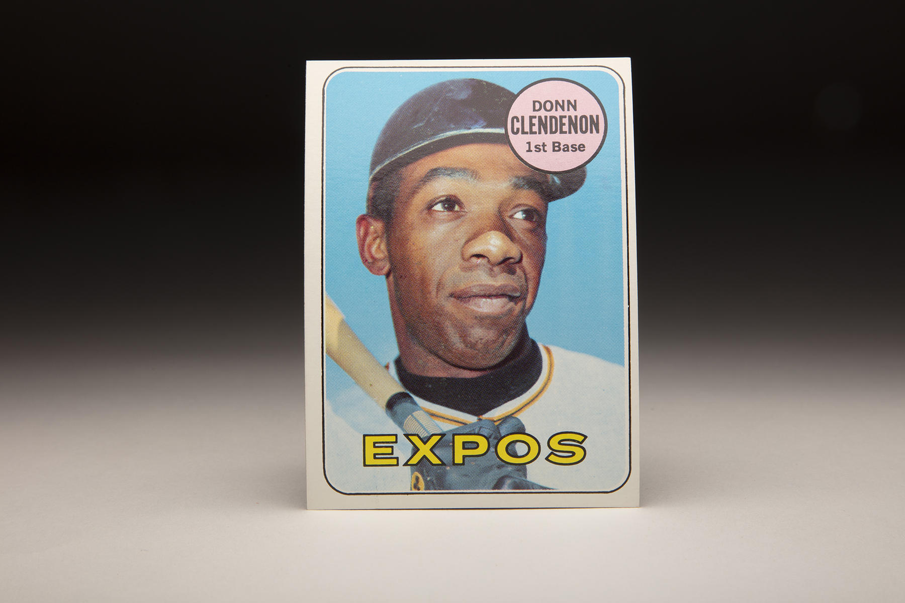 Donn Clendenon appeared on two versions of Topps' 1969 card series, one linking him to Houston, the other (as pictured above) connecting him to the Expos. (Milo Stewart Jr./National Baseball Hall of Fame and Museum)