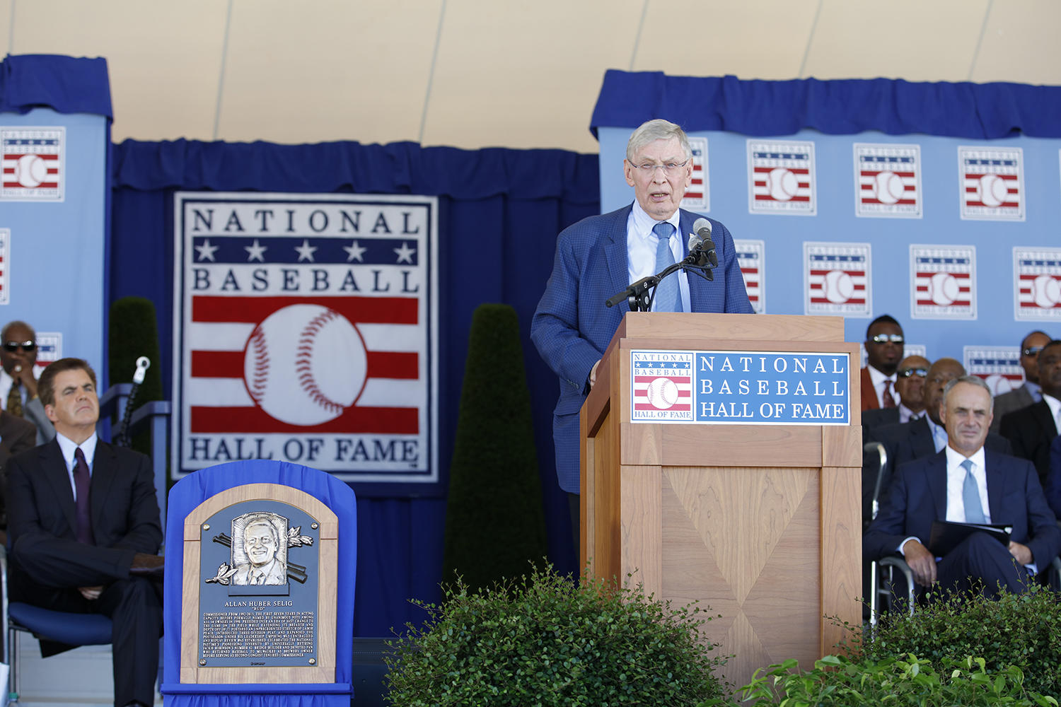 Bud Selig became the first living Hall of Famer to be inducted on his birthday on Sunday. Selig turned 83 years old. (Milo Stewart Jr. / National Baseball Hall of Fame and Museum)