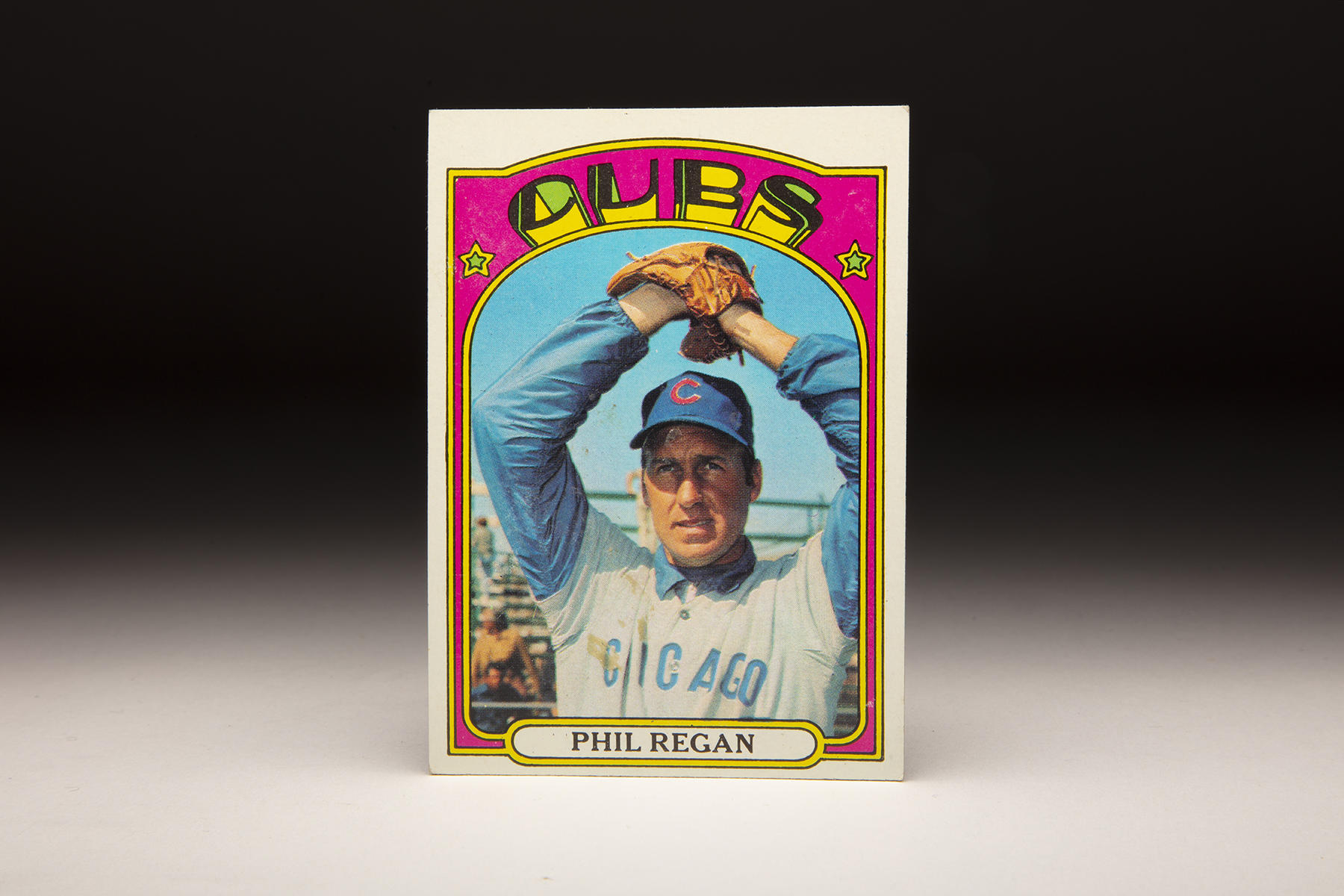The front of Phil Regan's 1972 Topps card. (Milo Stewart Jr./National Baseball Hall of Fame and Museum)