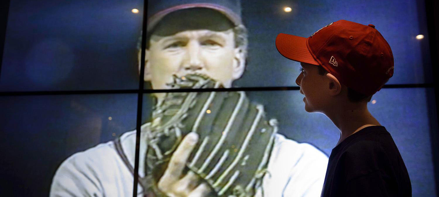 Enjoy the sights and sounds of the game on video displays throughout the Museum. (Mitch Wojnarowicz/National Baseball Hall of Fame and Museum)