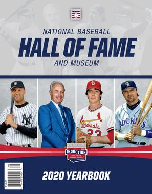 All membership levels receive the annual Hall of Fame Yearbook ($10.00 value).    The 2020 Yearbook is shown as an example.