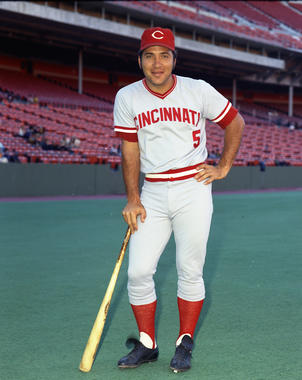 Johnny Bench helped lead the Cincinnati Reds to four National League pennants and two World Series titles. (Doug McWilliams/National Baseball Hall of Fame and Museum)