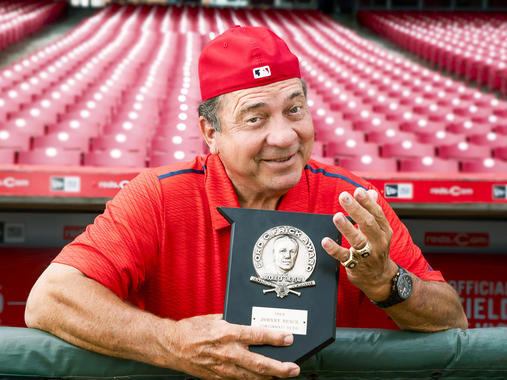 Hall of Fame catcher Johnny Bench remains the standard by which all other backstops are judged – and he's got the awards to prove it. (Jean Fruth / National Baseball Hall of Fame)