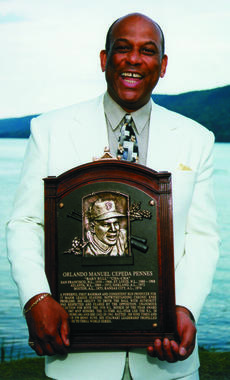 Orlando Cepeda was elected to the Hall of Fame in 1999. (By Photographer Milo Stewart Jr./National Baseball Hall of Fame and Museum)