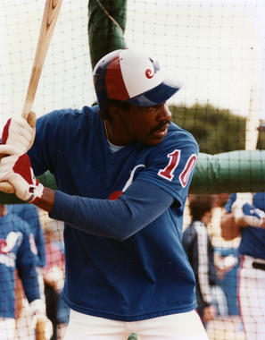 Andre Dawson, who played on the Montreal Expos from the beginning of his career in 1976 until 1986, was featured in the documentary <em>The Colorful Montreal Expos</em>, narrated by Montreal native William Shatner. (National Baseball Hall of Fame)