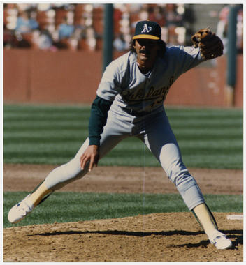 Dennis Eckersley took on the role of closer in his first season with his hometown Oakland Athletics in 1987, and remained a closer for the remainder of his career. (Doug McWilliams/National Baseball Hall of Fame and Museum)