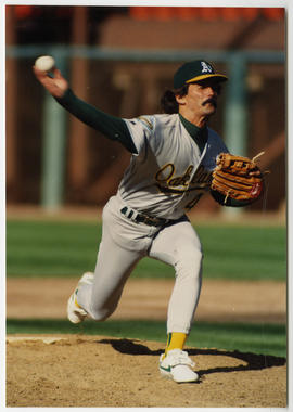 Dennis Eckersley saved a total of 390 games during his time as a closer. (Doug McWilliams/National Baseball Hall of Fame and Museum)