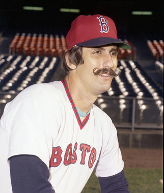Rollie Fingers was a member of the Red Sox for only three days after Commissioner Bowie Kuhn nullified Athletics' owner Charlie Finley's sale. (Doug McWilliams/National Baseball Hall of Fame)