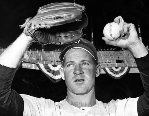 Whitey Ford debuted with the New York Yankees in 1950 and won 236 games over 16 seasons. He was elected to the Hall of Fame in 1974. (Bill Greene/National Baseball Hall of Fame and Museum)