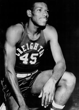 Bob Gibson starred on the basketball court for Creighton University before turning his full attention to baseball. (National Baseball Hall of Fame and Museum)