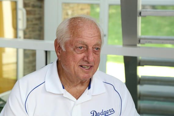 Tommy Lasorda was a frequent visitor to Cooperstown following his election to the Hall of Fame in 1997. (Parker Fish/National Baseball Hall of Fame and Museum)