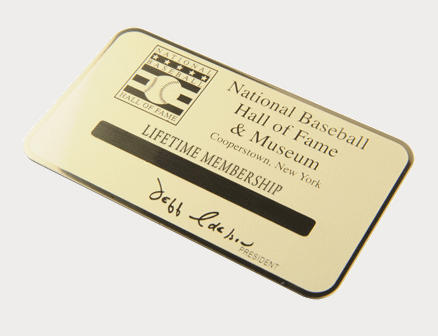 Lifetime members receive a personalized engraved gold Lifetime Membership card.