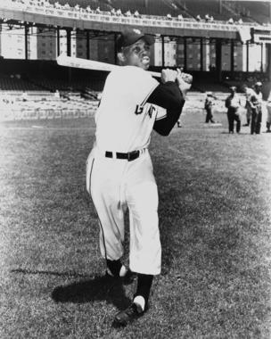 Willie Mays played for the Giants organization from 1951-1972, taking most of 1952 and all of 1953 off to serve in the military. (National Baseball Hall of Fame and Museum)