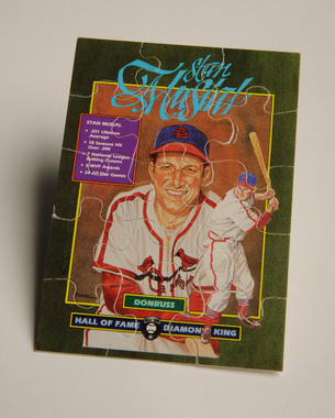 This puzzle depicting a Dick Perez rendering of Hall of Famer Stan Musial was formed from pieces found in the 1988 Diamond Kings set – born from an idea from Frank Steele. (Milo Stewart, Jr. / National Baseball Hall of Fame)
