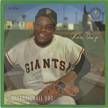 The 1964 Auravision record featuring Willie Mays, pictured above, is believed to be the rarest of the set. (National Baseball Hall of Fame and Museum)