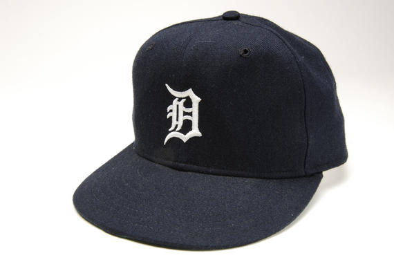 Detroit Tigers cap worn by manager Sparky Anderson on July 9, 1988 when he achieved his 800th win in the American League, against the Oakland Athletics at Tiger Stadium.  Anderson became the first to record 800 wins in both the American and National Leagues. - B-154.88  (Milo Stewart Jr./National Baseball Hall of Fame Library)