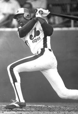 Andre Dawson batting as a Montreal Expo - BL-2427-80 (National Baseball Hall of Fame Library)