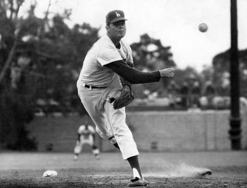 Don Drysdale, Los Angeles Dodgers, 1959 - BL-3202-71b (National Baseball Hall of Fame Library)