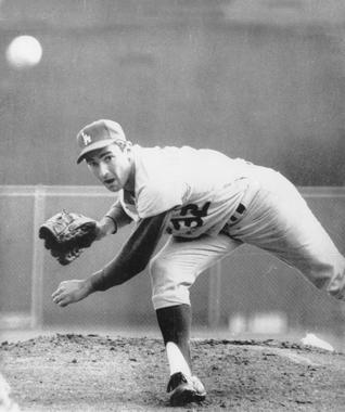 Sandy Koufax of the Dodgers pitching - BL-2568-68 (National Baseball Hall of Fame Library)