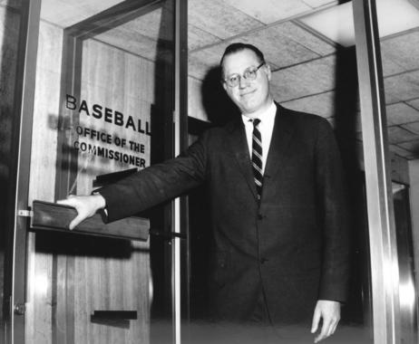 Commissioner Bowie Kuhn outside his office - BL-1347-96 (National Baseball Hall of Fame Library)