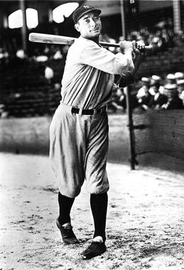 Posed batting of New York Yankees Tony Lazzeri, no date - BL-598-63 (National Baseball Hall of Fame Library)