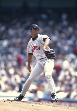 Game-action of Pedro Martinez of the Boston Red Sox, May 31, 1998. - BL-2629-2000 (Rich Pilling/National Baseball Hall of Fame Library)