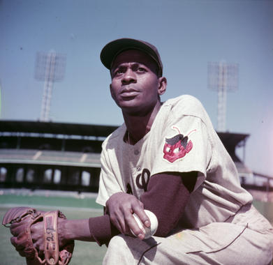 Satchel Paige of the St. Louis Browns, October 1, 1952 - BL-282-60 (Look Magazine/National Baseball Hall of Fame Library)