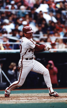 Mike Schmidt of the Philadelphia Phillies batting -BL-9804-95 (Philadelphia Phillies/National Baseball Hall of Fame Library)