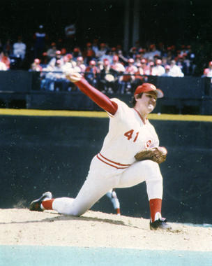 Tom Seaver had already won three Cy Young Awards, five strikeout titles and a World Series championship by the time the New York Mets traded him to the Cincinnati Reds in 1977. BL-765-80 (National Baseball Hall of Fame Library)