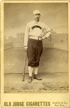 Old Judge Cigarettes card of Sam Thompson of the Philadelphia Phillies - BL-141-46 (National Baseball Hall of Fame Library)