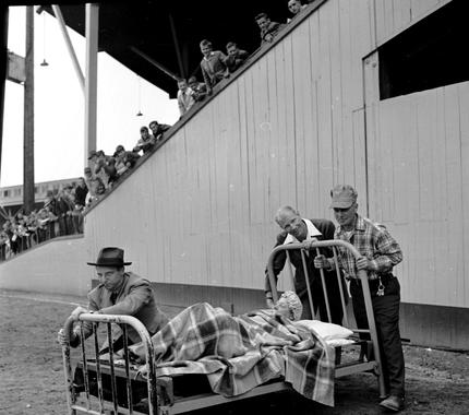 Hall of Fame executive Bill Veeck was always looking to give baseball fans a show, with his signing of little person Eddie Gaedel in 1951 ranking among his most memorable stunts. BL-252-54-8 (Look Magazine / National Baseball Hall of Fame Library)