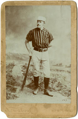 Newsboy cabinet card for Monte Ward - BL-441-55 (National Baseball Hall of Fame Library)