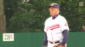 Bob Feller Pitches at the Baseball Hall of Fame Classic