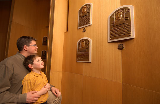 The Hall of Fame plaque gallery (Milo Stewart Jr./National Baseball Hall of Fame)