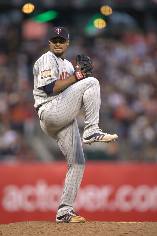 Johan Santana won the American League Cy Young Award in 2004 and 2006, and finished in top seven of his league's Cy Young Award voting four other times. (Brad Mangin/National Baseball Hall of Fame and Museum)