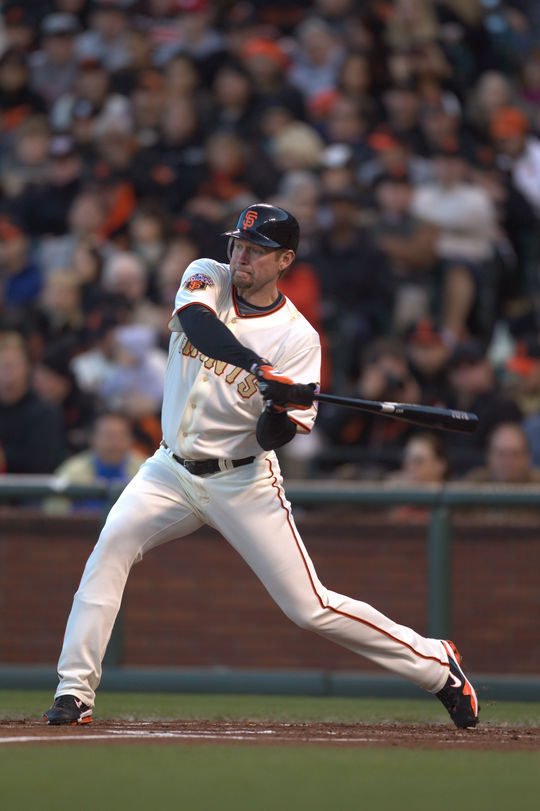 Aubrey Huff was a member of the San Francisco Giants' 2010 and 2012 World Series championship teams. (Brad Mangin/National Baseball Hall of Fame and Museum)