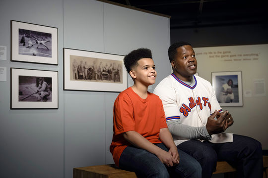 """""""Picturing America's Pastime"""" showcases the bredth and depth of the Museum's photo collection, capturing the timeless beauty of the game. (Mitch Wojnarowicz/National Baseball Hall of Fame and Museum)"""