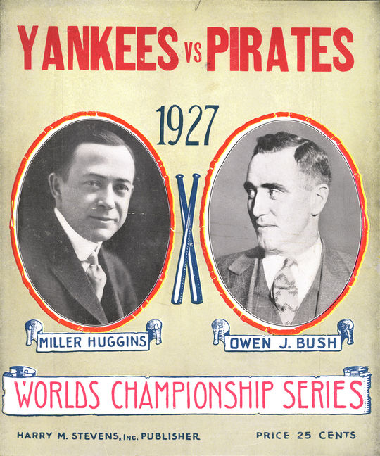 The Yankees would emerge victorious in the 1927 World Series, 4-games-to-0, over the Pirates. This program from the series is currently in the National Baseball Hall of Fame's collection. (National Baseball Hall of Fame)