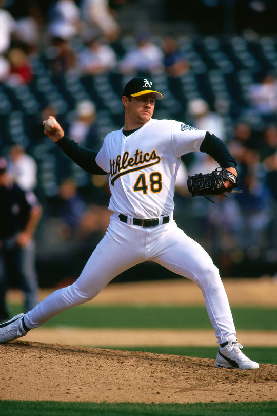 Jason Isringhausen is one of 28 pitchers all-time with at least 300 saves. (Brad Mangin/National Baseball Hall of Fame and Museum)