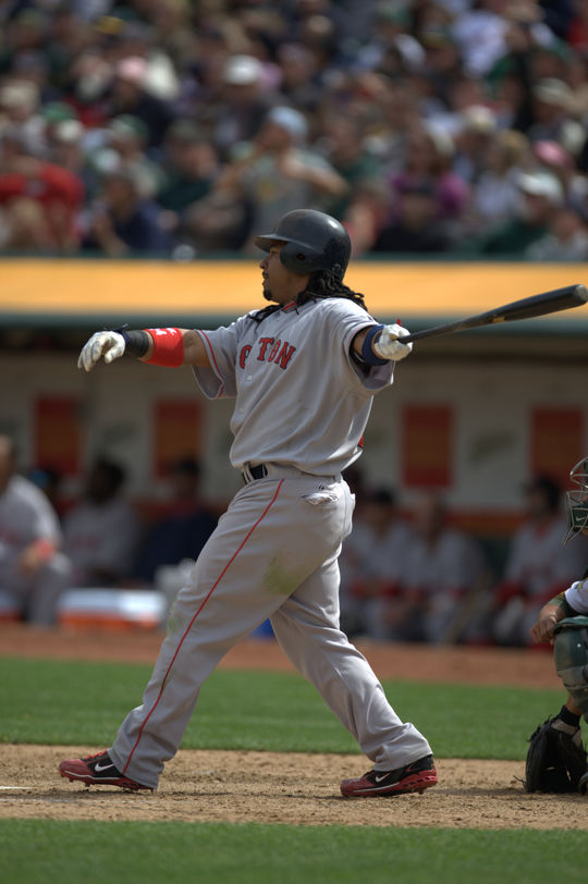 Manny Ramírez is a twelve-time All-Star and nine-time Silver Slugger Award winner as an outfielder. (Brad Mangin/National Baseball Hall of Fame and Museum)