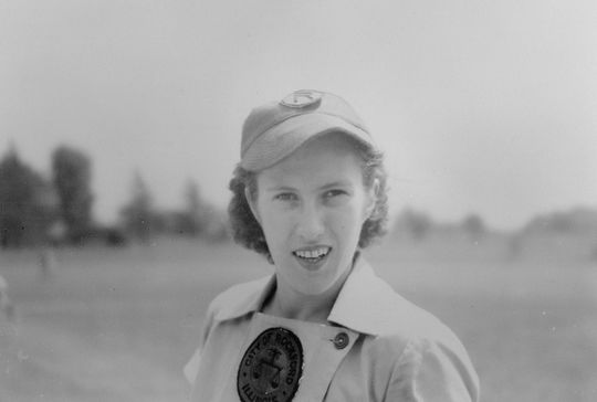 Dottie Kamenshek played for the Rockford Peaches from 1943-51, and in 1953. (National Baseball Hall of Fame and Museum)